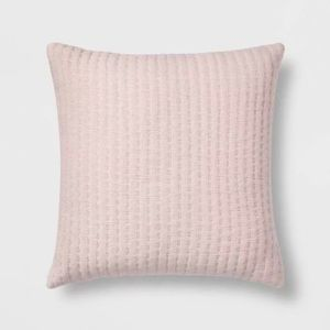 Threshold Pink Stripe Square Pattern Throw Pillow